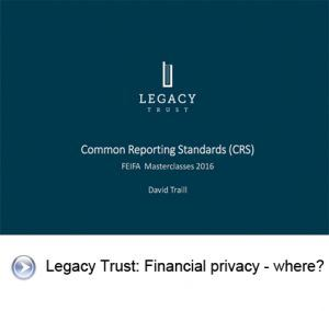 Legacy trust slide for video